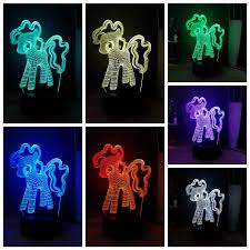 Cute Kids Gift Cartoon Pony Led Child Sleep Night Light Pinkiepie Rgb Multicolor Desk Lamp My Little Pony Friendship Is Magic