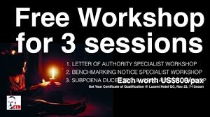 Free Workshop For 3 Sessions Letter Of Authority Benchmarking