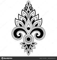 Henna Tetování Květiny šablona V Indickém Stylu Etnické Květinové