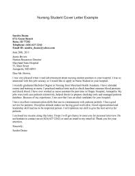 Cover Letter Nursing For Student Resume Shalomhouse Us Examples