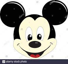 Vector Illustration of Mickey Mouse face placed on white background Stock  Vector Image & Art - Alamy