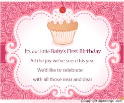 First Birthday Quotes Custom First Birthday Invitation Wording 48st Birthday Invitation Message