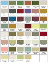 California Paint Color Chart American Craftsman Inspired Paint Colors For Arts And Crafts