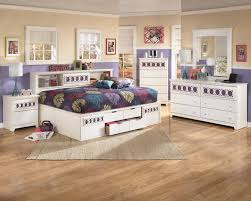 Bookcase Bedroom Furniture Zayley White 7 Piece Kids Full Bookcase Storage Bed Bedroom Set