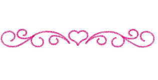 Scroll Border Designs Heart Border Embroidery Design