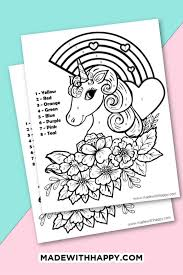 It's better to show their talent earlier so you can enhance it and develop it. Unicorn Color By Number Free Printable Unicorn Coloring Pages
