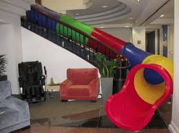 google slide in office. slides help make architecture active and fun stair slide google office in g
