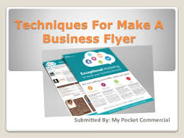 How To Make A Business Flyer How To Design A Flyer For Business My Pocket Commercial