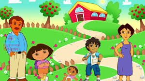 playing cartoon dora cartoon song for children dora the explorer finger family