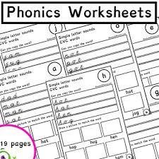 Phonics worksheets, phonics worksheet templates, phonics board games. Phonics Alphabet Sound Worksheets With Cvc Words Phonics Resources