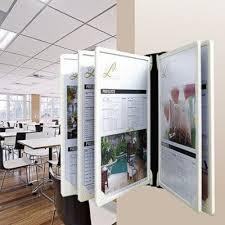 Poster Flip Display Wall Mounted