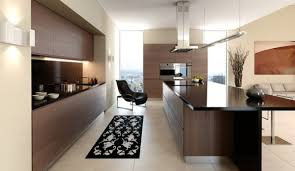 Interior Kitchen Stylish Interior For Minimalist Kitchen Design With Cool Oak