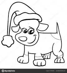 Pup Op Kerstmis Kleurplaten Pagina Stockvector Izakowski 159152294
