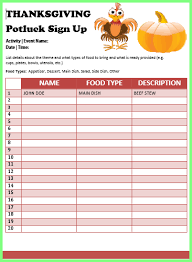 thanksgiving potluck sign up sheet 14 thanksgiving potluck signup sheet notice