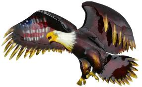 3d metal wall art bald eagle with