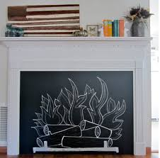 how to make a chalkboard fireplace with mantel