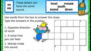 To download/print, click on the button bar on the bottom of the worksheet. Ou Ow Sound Crossword Puzzle Anywhere Teacher