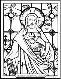 Small Picture Stained Glass Coloring Page of Jesus Church Window