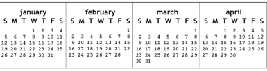 Stick the calendar to the keyboard with tape; Free Printable Monitor Calendar Strips Craftmeister
