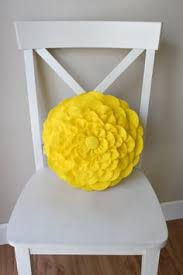 bright colored throw pillows. Beautiful Pillows Bright Yellow Felt Flower Pillow By Loveoffamilyandhome On Etsy Inside Colored Throw Pillows T