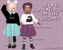sims 4 cc s the best alice in wonderland set for toddlers by radioactiv