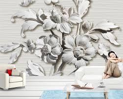 Bestellen Beibehang Behang Voor Muren 3 D Stereo Relief Bloem