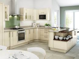 Off White Kitchen Delaware Kitchen Cabinets Gray Lowers White Uppers Small Kitchen
