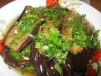 Баклажаны с чесночным соусом по грузински