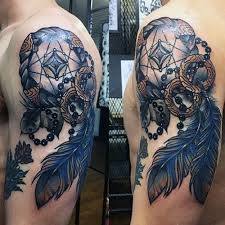 Cool Dream Catcher Tattoos Inspiration 32 Dreamcatcher Tattoos For Men Cool Tattoos For Men Best