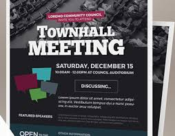 Town Hall Flyer Template Meeting Flyer Template Announcement 26 Of