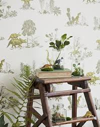 Science Wallpaper Bedroom Kids Bedrooms With Dinosaur Themed Wall Art And Murals