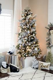 Black and White Christmas Trees