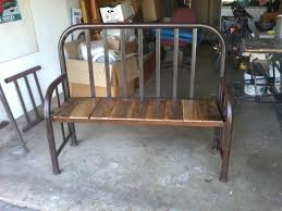 Metal Bedroom Bench Repurposed Twin Bed Frame Into A Bench Front Door Porch