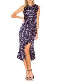 Designer Long Midi Dresses Lilac Dress