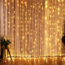 Waterfall Fairy Lights Uk Led Curtain Lights Fairy Window String Lights 300 Led 3m 3m 8 Modes With Ir Remote Control Wire Lights Waterproof For Indoor Outdoor Christmas Party
