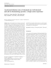 Rituxan Infusion Rate Chart Pdf Accelerated Infusion Rates Of Rituximab Are Well