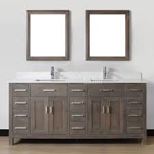 double bathroom vanity kalize 75 french gray finish
