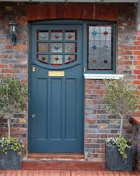1930s stained glass front door