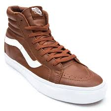 vans sk8 hi reissue premium leather shoes tortoise shell 6 0