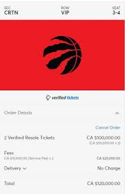 Raptors Tickets Price Chart Want Courtside Seats To See Raptors In Nba Finals Itll
