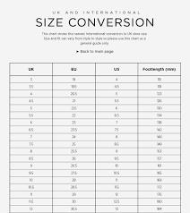 Australian Size Chart Size Guide Spring Court Australia