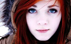 White skin red head