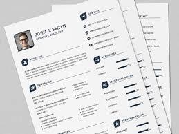 The Power Resume/CV Full Set Print Template