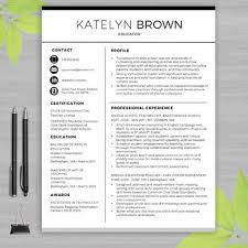 Teacher Resume Samples In Word Format TEACHER RESUME Template For MS Word Educator Resume Writing Guide 28