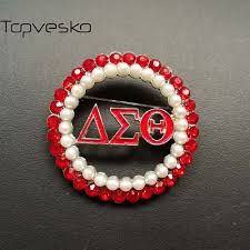 topvesko sorority and fraternity supplier delta sigma theta dst pearl brooch jewelry fashion brochas sigma