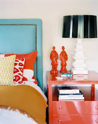 furniture stores orange county Bedroom Eclectic with accent colors