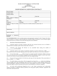 Snow Removal Bid Template Snow Plowing Contracts Fill Online Printable Fillable