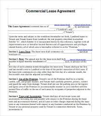 Free Commercial Lease Agreements Forms 15 Simple Commercial Lease Agreement Templates Word Pdf Pages