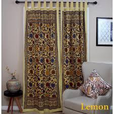 out of stock green handmade 100 cotton sunflower fl tab top curtain d door panel navy blue gray yellow