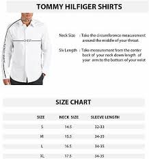 Tommy Hilfiger Shirt Size Chart Details About Tommy Hilfiger Men S 100 Cotton Dress Shirt Slim Fit Broadcloth 24f1608 Blue